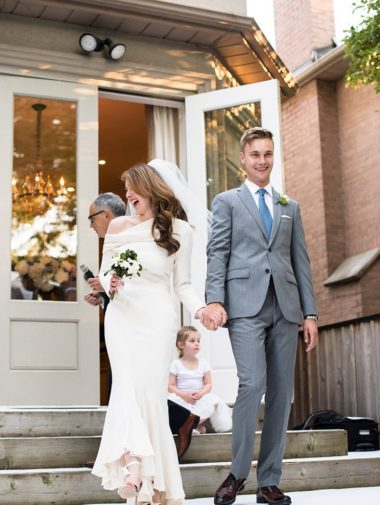 A Romantic and Intimate Wedding in Toronto - Bride and Groom