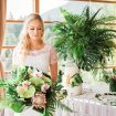A Tropical Styled Shoot with Green and Gold Details - Bride