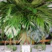 A Tropical Styled Shoot with Green and Gold Details - Tablescape