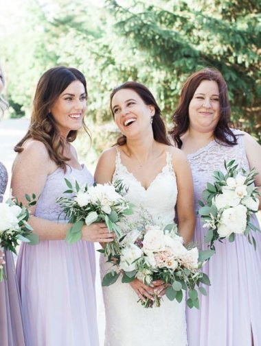 A Floral Tuscan-Themed Wedding in Beamsville, Ontario - Bridesmaids