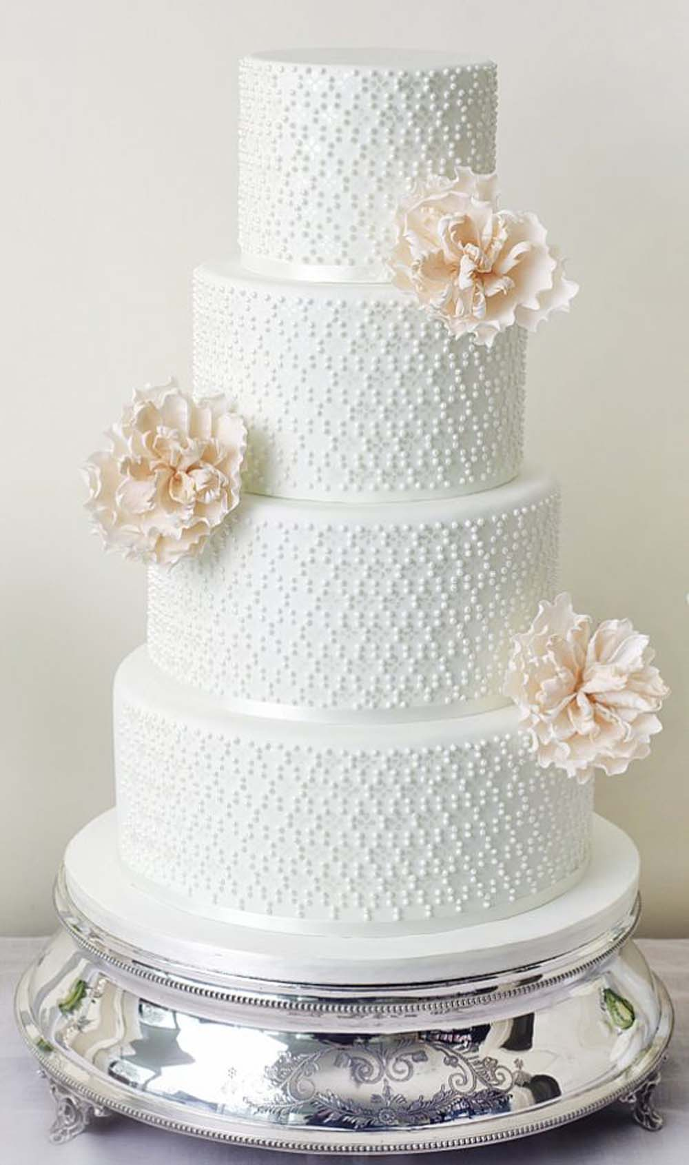 White wedding cakes that are anything but traditional weddingbells junglespirit Images