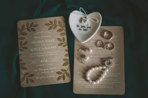 a green wedding with gold accents in new brunswick - bridal accessories