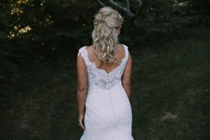 green wedding with gold accents in new brunswick - bride