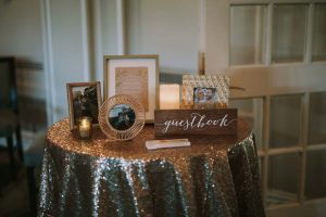green wedding with gold accents in new brunswick - gold decor