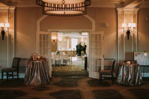 green wedding with gold accents in new brunswick - venue