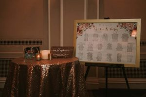 green wedding with gold accents in new brunswick - seating chart