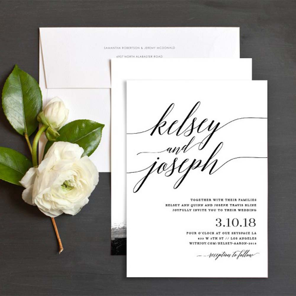 Lovely Minimalist Invitations For A Modern Wedding Weddingbells