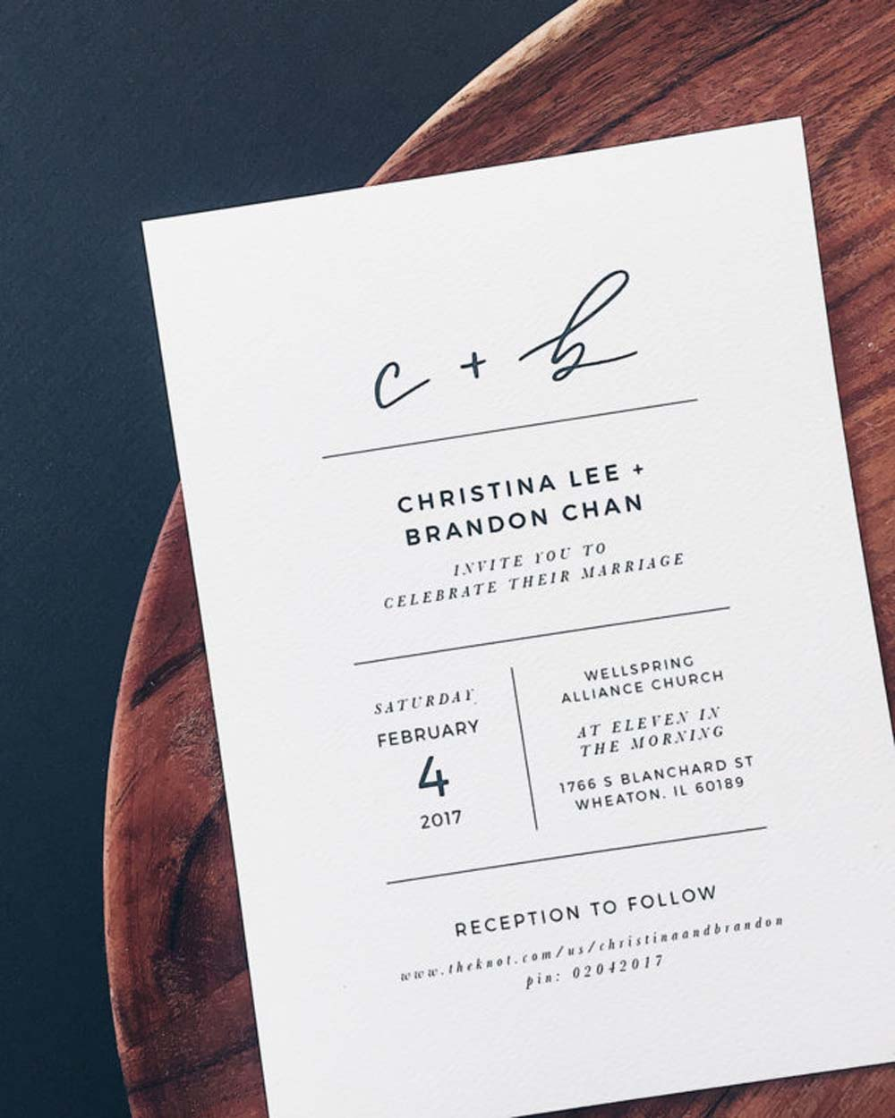 Lovely Minimalist Invitations For A Modern Wedding | Weddingbells