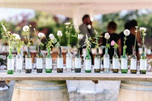 blush winery wedding in british columbia - seating display