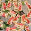 blush winery wedding in british columbia - appetizers