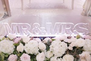 classic luxe wedding in ottawa ontario - mr and mrs sign