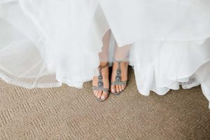 luxurious fall wedding in downtown toronto - bridal shoes