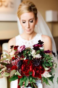 luxurious fall wedding in downtown toronto - bridal bouquet