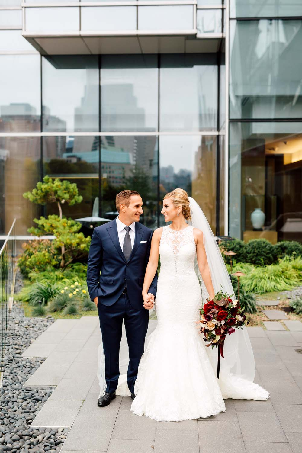 luxurious fall wedding in downtown toronto - bride and groom