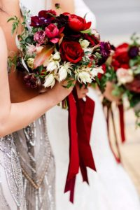 luxurious fall wedding in downtown toronto - bridesmaid bouquet