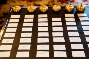 luxurious fall wedding in downtown toronto - place cards