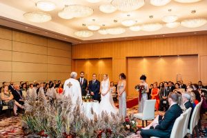 luxurious fall wedding in downtown toronto - ceremony