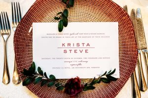 luxurious fall wedding in downtown toronto - wedding invitation