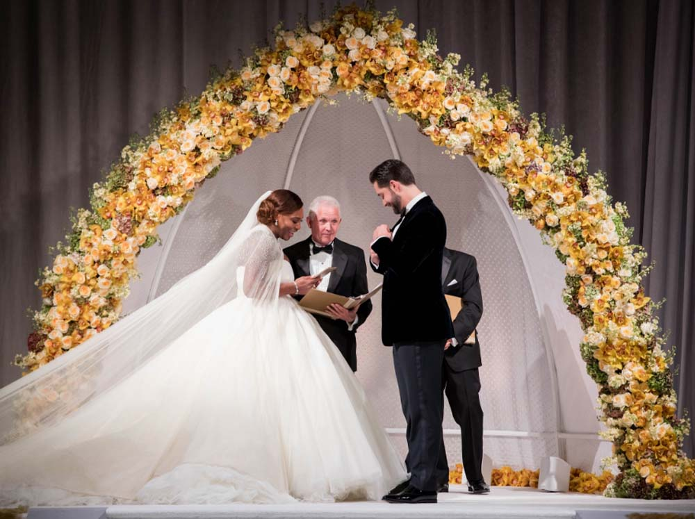 Our Ten Favourite Details From Serena Williams and Alexis Ohanian's Wedding - ceremony arch