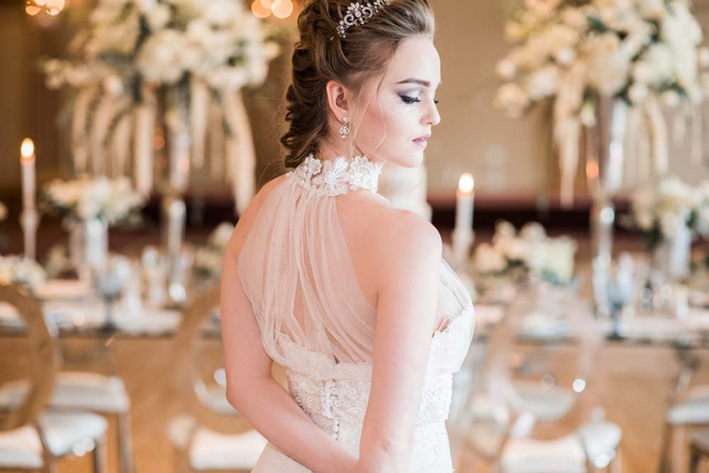 an icy blue winter inspired styled shoot - bride