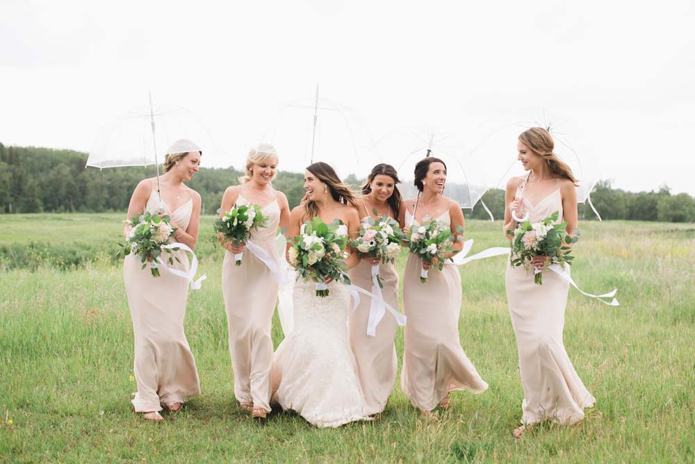 a romantic tuscany-inspired wedding in calgary - bride and bridesmaids