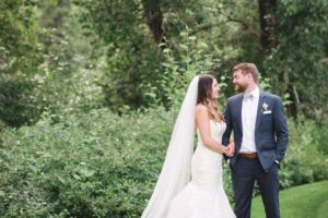 a romantic tuscany-inspired wedding in calgary - bride and groom