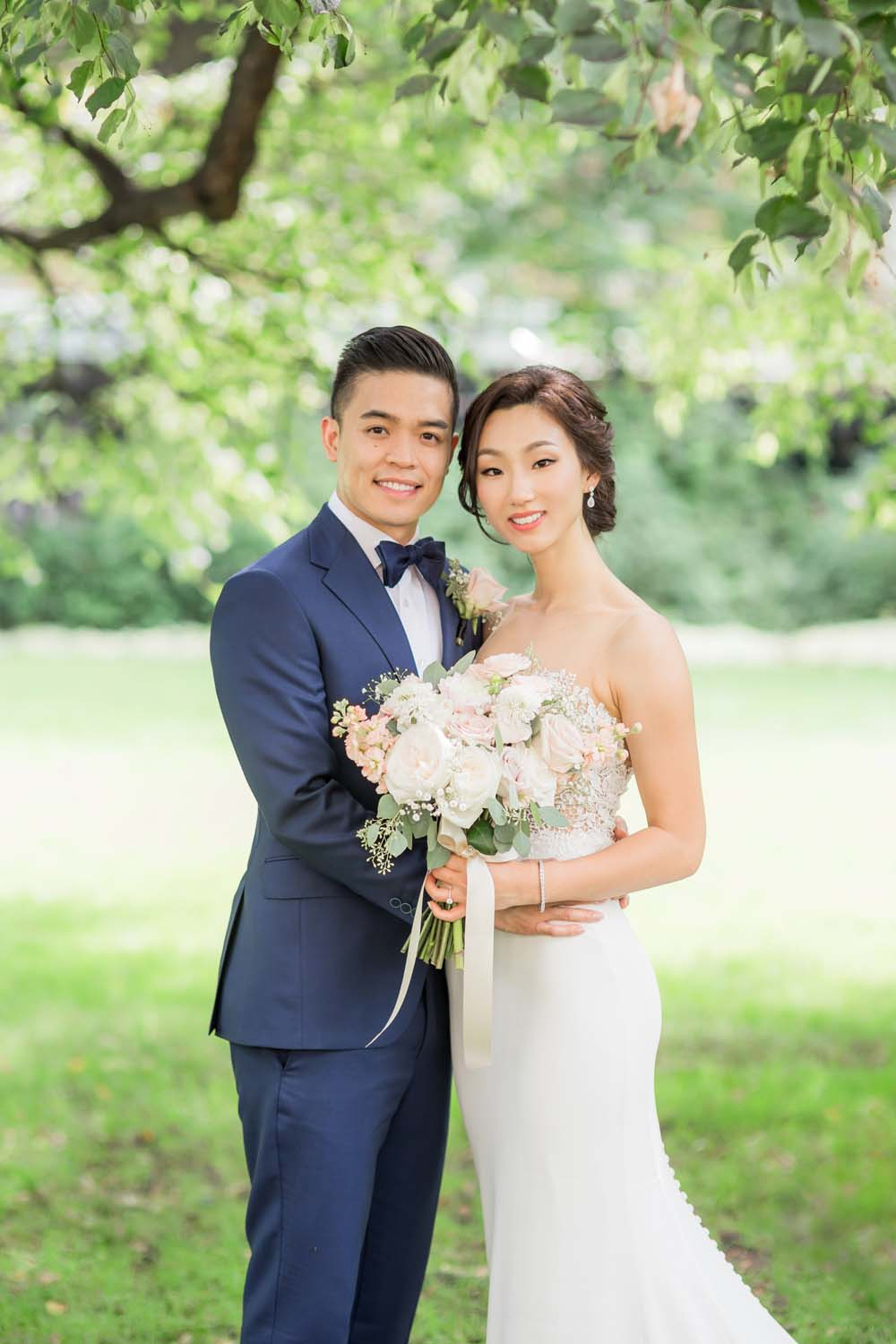 a beautiful blush and gold wedding in toronto - bride and groom