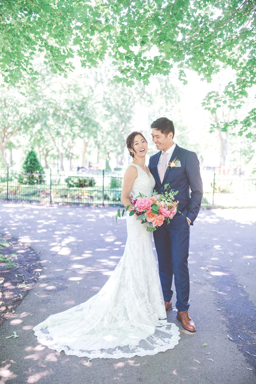 a bright, fresh summer wedding in montreal - bride and groom