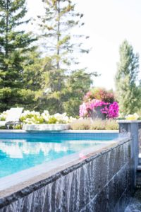a cottage-chic summer wedding - pool