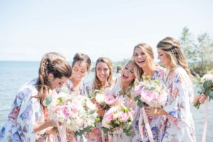 a cottage-chic summer wedding - bride and bridesmaids