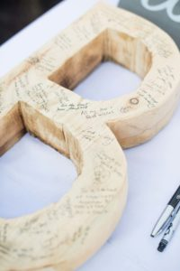 a cottage-chic summer wedding - guestbook