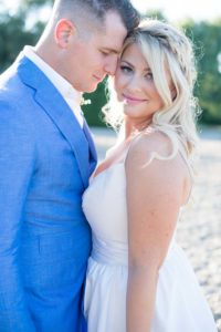 a cottage-chic summer wedding - bride and groom