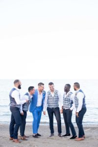 a cottage-chic summer wedding - groom and groomsmen