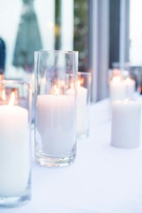 a cottage-chic summer wedding - candle