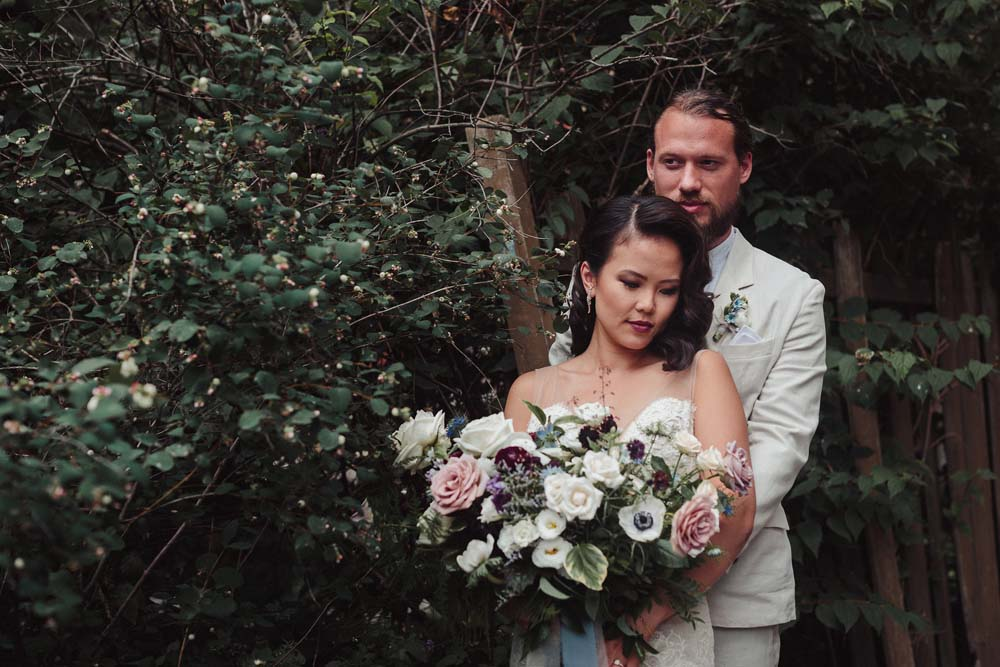 a french country inspired wedding in toronto - bride and groom