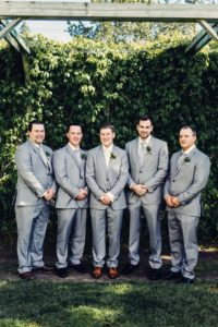 a gold wedding in saskatchewan - groom and groomsmen
