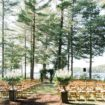 a romantic woodsy wedding in muskoka, ontario - ceremony venue