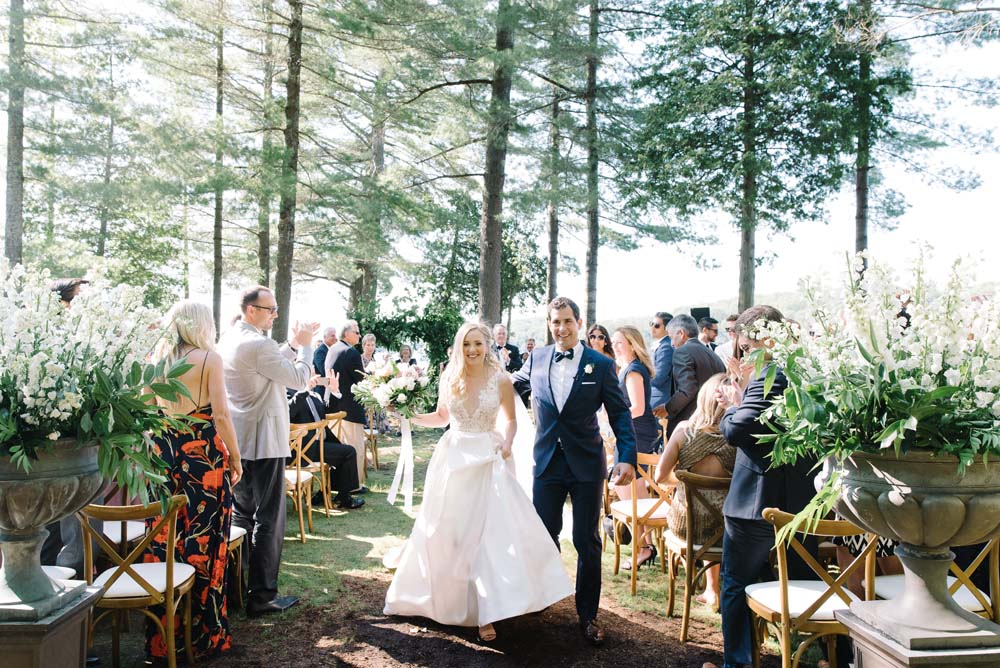 a romantic woodsy wedding in muskoka, ontario - ceremony