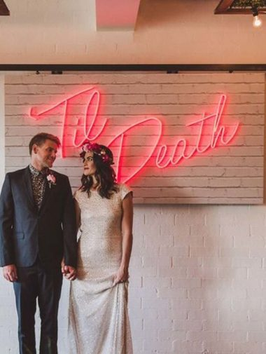 Fun Neon Signs You Need At Your Wedding-Til' Death
