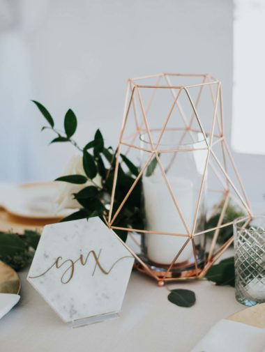 A Gold And Marble Wedding In British Columbia - table number