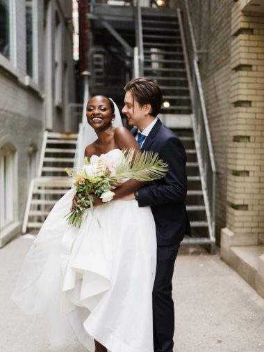 A Modern Tropical Inspired Wedding in Toronto - bride and groom