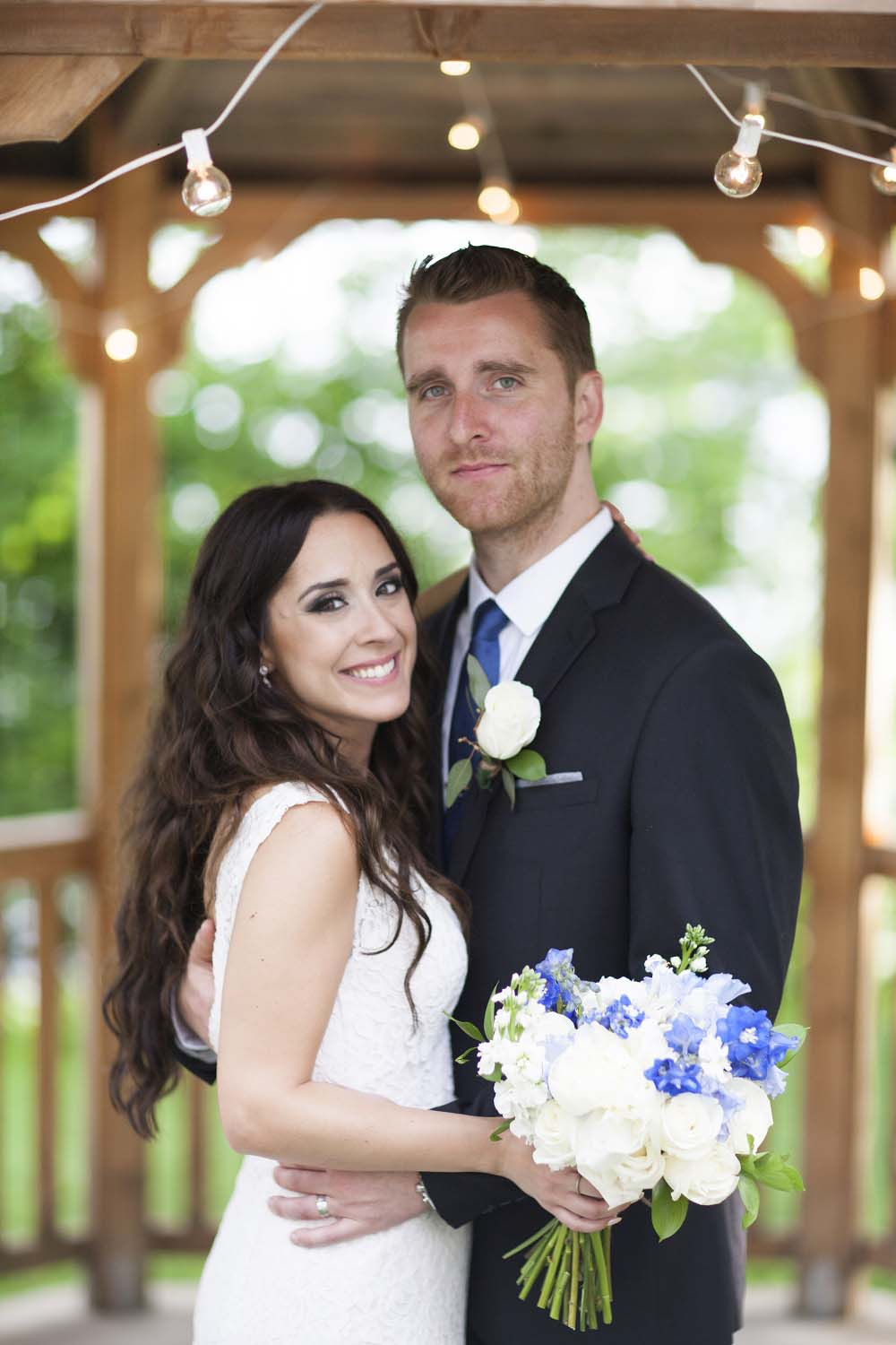A Woodsy Summer Wedding in Montreal - bride and groom