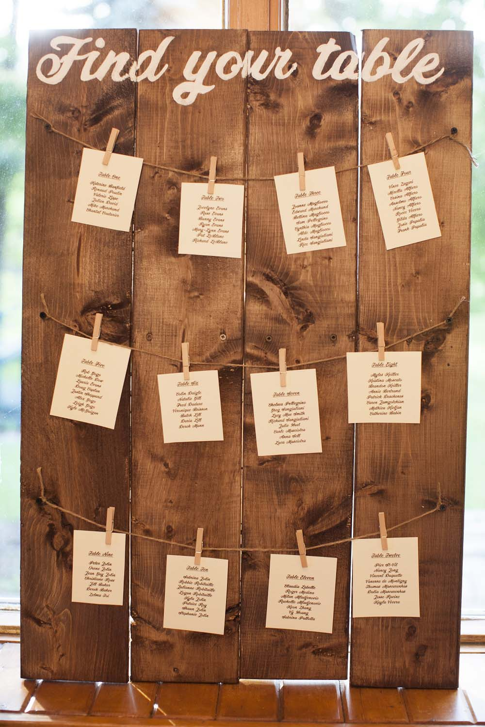 A Woodsy Summer Wedding in Montreal - seating chart