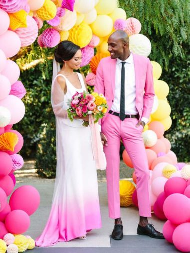 The Most Stunning Colourful Weddings - Hot pink wedding
