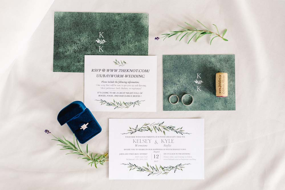 An Enchanting Vineyard Wedding in Ottawa - Stationery