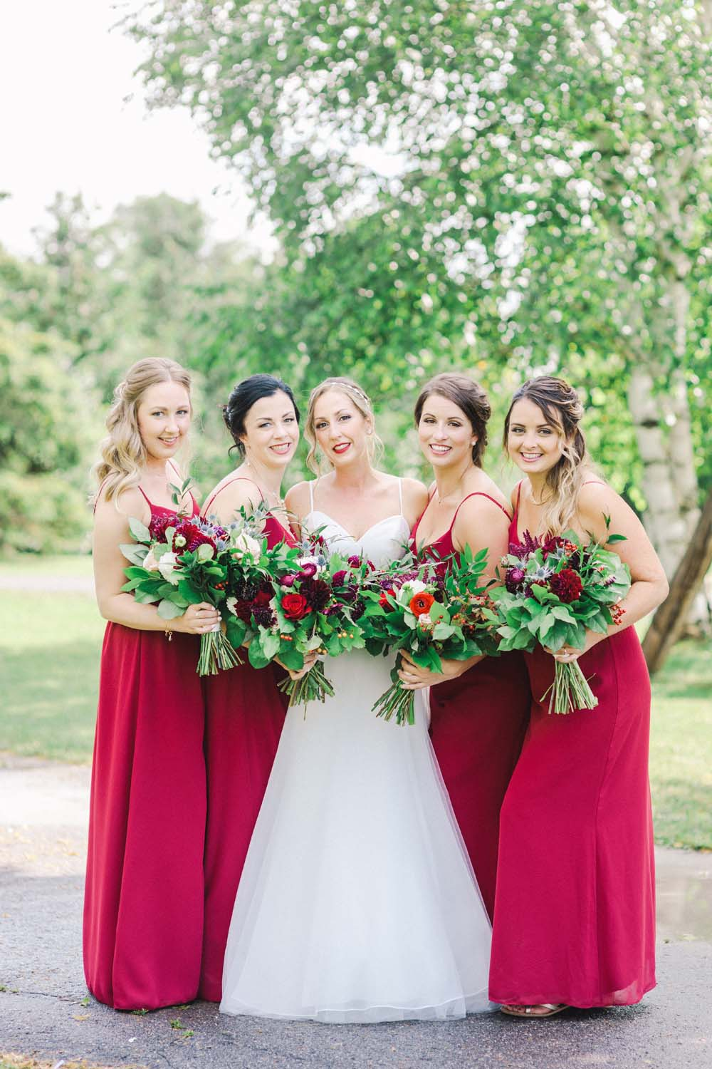 An Enchanting Vineyard Wedding in Ottawa - Bride and bridesmaids