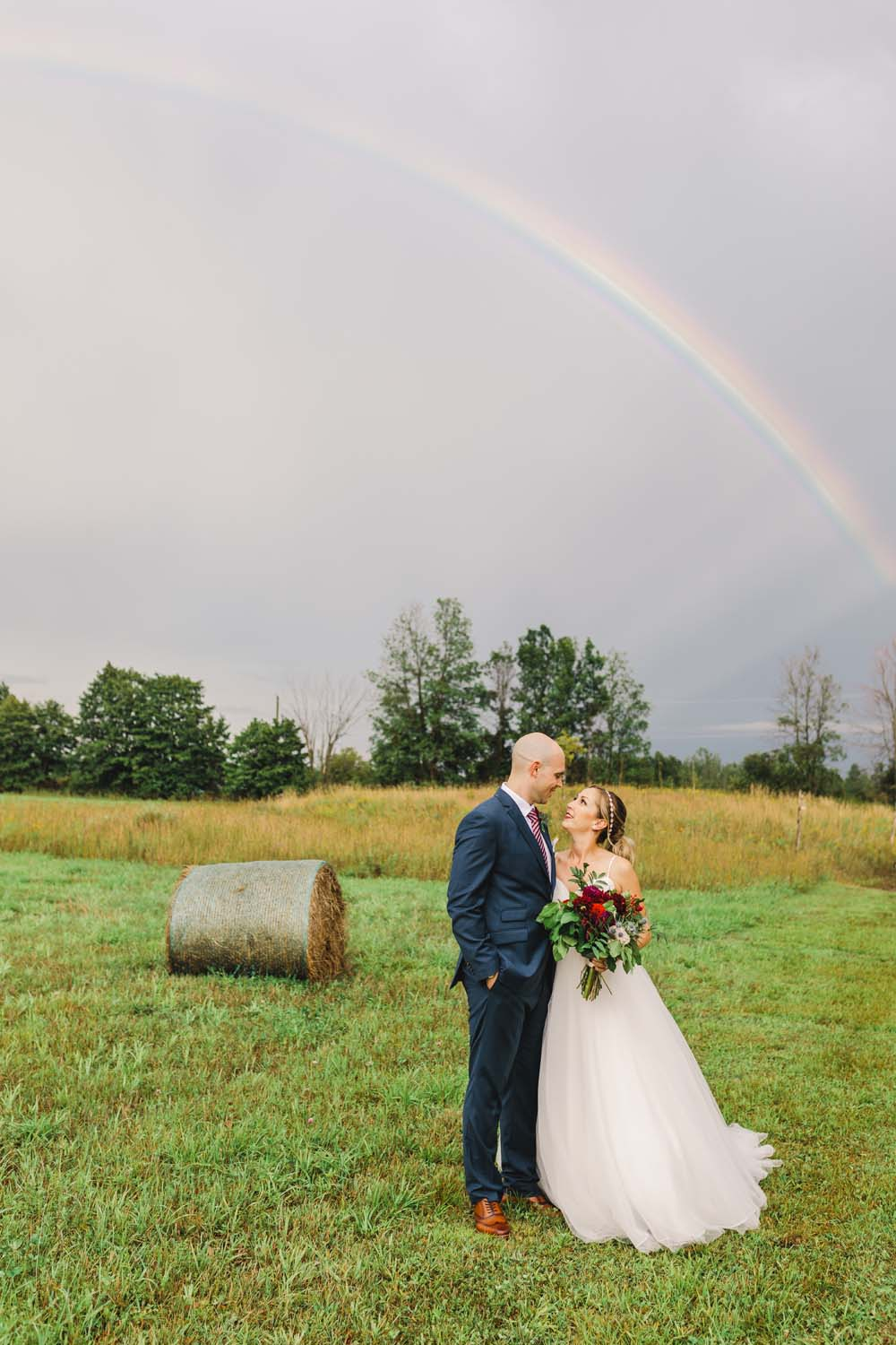 An Enchanting Vineyard Wedding in Ottawa - Bride and groom