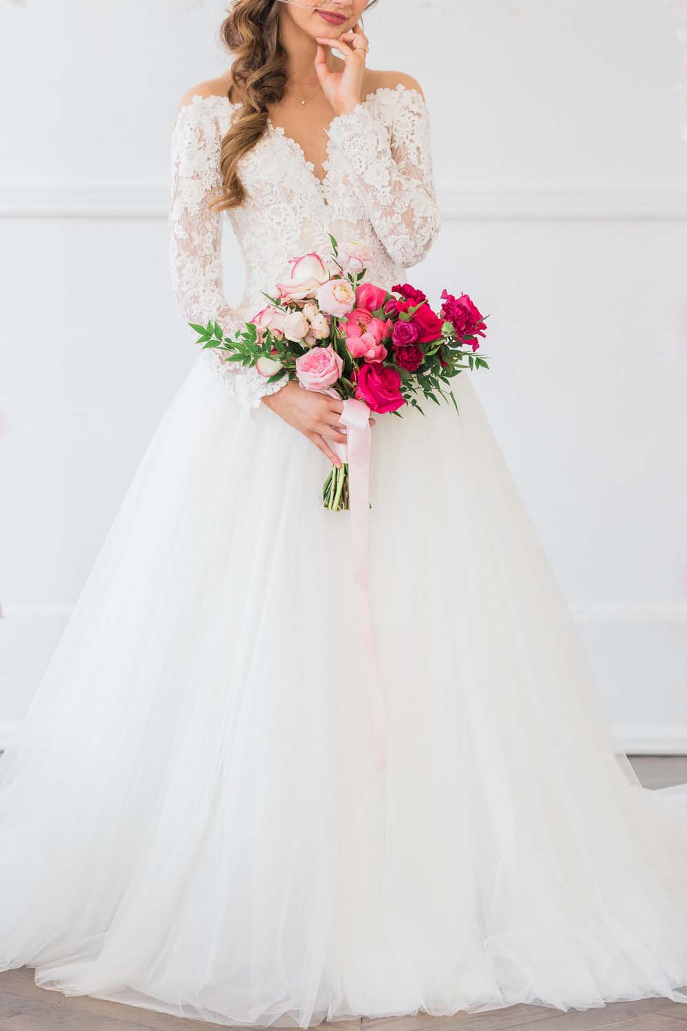 The Prettiest Romantic Pink Wedding Inspiration - bride and bouquet