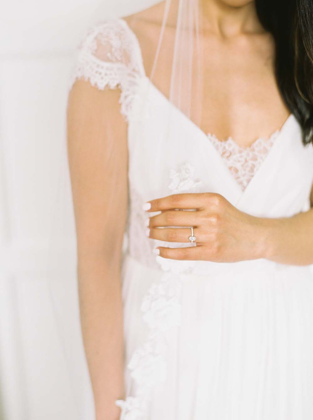 a timeless, romantic wedding in vancouver - bridal gown