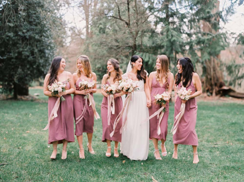 a timeless, romantic wedding in vancouver - bride and bridesmaids